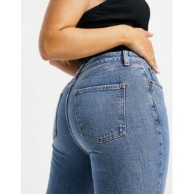 DESIGN Hourglass mid rise vintage 'skinny' jeans in midwash with rips good quality ZCDW176