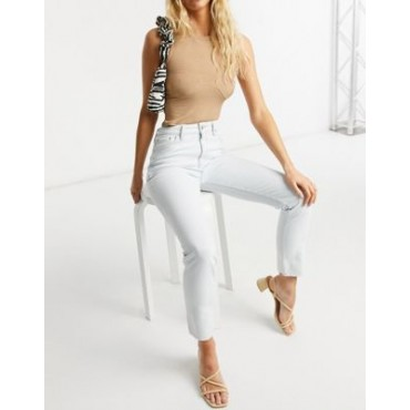 DESIGN mid rise vintage 'skinny' jeans in antique white New Arrival UQAJ237