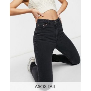DESIGN Tall mid rise vintage 'skinny' jeans in washed black Size 10 for Women The Best Brand CGRP368