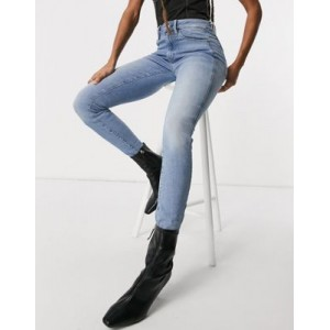 G-Star high waist skinny jeans in light wash blue For Hot Weather for Young Women on style OBQN601