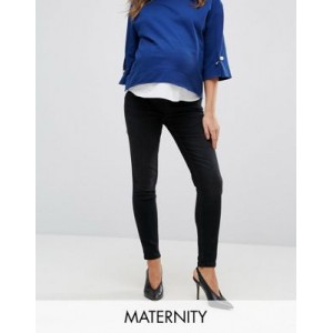 Gebe Maternity premium over-the-bump skinny jeans in black for Women Online Wholesale MQNQ991