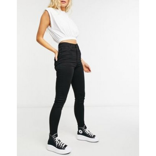 Levi's Mile High Skinny Jean in Clean Black for Women Selling Well PNTJ694
