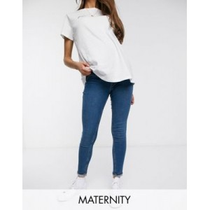 New Look Maternity lift and shape overbump jegging in mid blue Size 10 Ships Free TGEB578