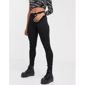 Noisy May Callie high waist skinny jeans in black In Tall New FHAP201