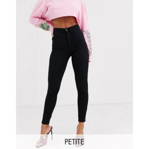 Noisy May Petite Callie high waist skinny jeans in black on clearance ZHHY459