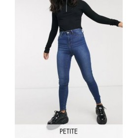 Noisy May Petite Callie high waisted skinny jeans in mid blue wash For Hot Weather for Women At Target ENZA638