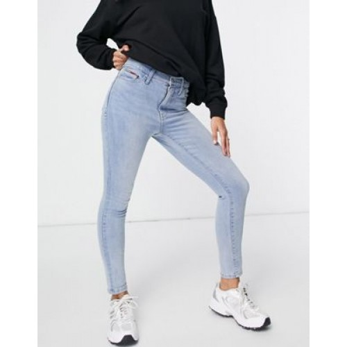 Tommy Jeans high rise skinny jeans in light wash Fit comfortable UFNT177