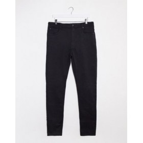 Weekday high waist extended sizes skinny jeans in black In Tall Clearance Sale PVXB292