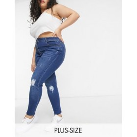 Yours super skinny ripped jeans in mid wash for Young Women quality IAQR940