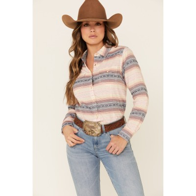 Ariat Women's R.E.A.L Radiant Serape Striped Long Sleeve Western Core Shirt - Long Sleeve Shirts Discount SNLY23146