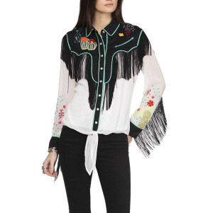 Double D Ranch Women's Walkin' After Midnight Top - Long Sleeve Shirts  new in TSS3H5086
