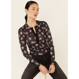 Free People Women's One Of The Girls Printed Thermal Top - Long Sleeve Shirts  stores X6OY07848
