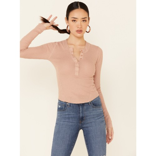 Free People Women's One Of The Girls Thermal Top - Long Sleeve Shirts B2AJW7445