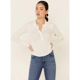 Free People Women's One Of The Girls Thermal Top Plus Size - Long Sleeve Shirts  Cost SMWY38951