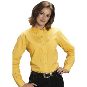 Roper Women's Amarillo Button Down Poplin Long Sleeve Western Shirt For Summer - Long Sleeve Shirts  Number 1 Selling 37AXL2681