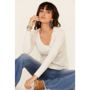 Shyanne Women's Seamed Detail Long Sleeve Tee Going Out - Long Sleeve Shirts  Discount 51TWR4892
