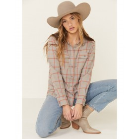 United By Blue Women's Plaid Long Sleeve Western Flannel Shirt - Long Sleeve Shirts  New Look KSEEZ2306