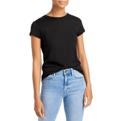 FRAME Women's Le Mid Rise Muscle Tee Noir high quality BFKJ956