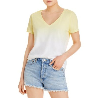 Jason Scott Women Relaxed Ombre Tee Washed Citron Valentine For Sale TILG781