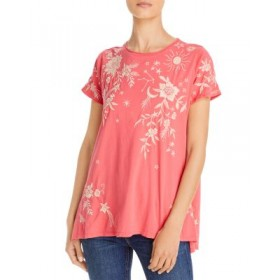 Johnny Was Girl's Mia Embroidered Linen Tee Dusty Cora IWJW320