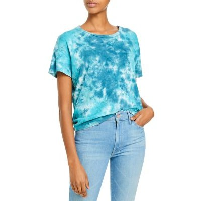 MOTHER Women's The High Sparrow Tee Keeping It Swirl Popular PDBX266