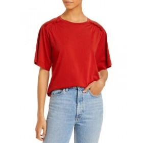 Rebecca Taylor Girls Ruched Sleeve Tee Pomodoro 3XL Top Sale BVKN361