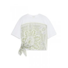 Sandro Young Women's Eulali Printed Tie Hem Tee White High Quality The Top Selling UXVQ815