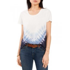 VINCE CAMUTO Girls Chevron Tie Dyed Tee Classic Navy online shopping XNSN608