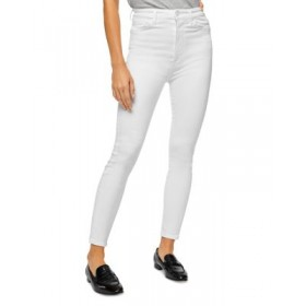 7 For All Mankind Girls Aubrey Ankle Skinny Jeans in Slim Illusion White Slim Illusion White Fit ERRQ191