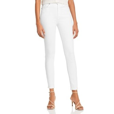 7 For All Mankind Girls High-Waist Ankle Skinny Jeans in Slim Illusion Luxe White Slim Illusion Luxe White shop online LSDI188