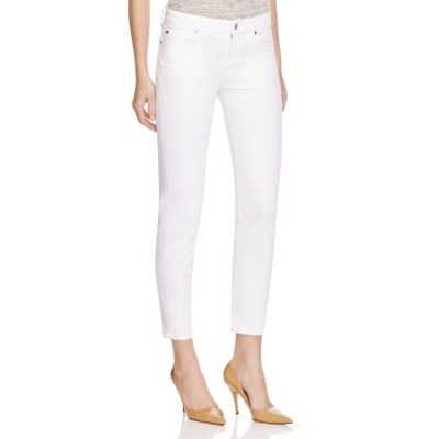 7 For All Mankind Girls Kimmie Crop Skinny Jeans in Clean White Clean White quality VRZR462