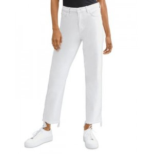 7 For All Mankind Women Cropped Straight Jeans in Stone Stone Size 28 RWPZ436