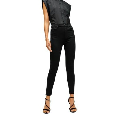 7 For All Mankind Women High Waist Ankle Skinny Jeans in Black Black The Top Selling LCIZ420