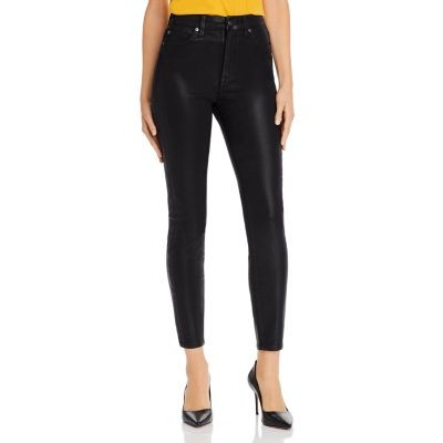 7 For All Mankind Women Skinny Ankle Jeans in Black Coated Black Coated Size 30 The Most Popular ITDT308