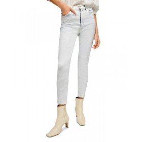 7 For All Mankind Women's High Waist Ankle Skinny Jeans in Ocean Stretch Ocean Stretch In Store MDHZ396