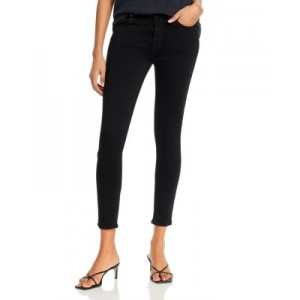 7 For All Mankind Women's High-Waist Ankle Skinny Jeans in Slim Illusion Luxe Black Slim Illusion Luxe Black Fitted NRUH836