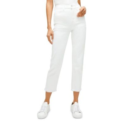 7 For All Mankind Women's High-Waist Cropped Jeans in Prince St Prince St spring 2021 DKJK811