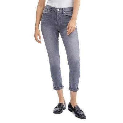 7 For All Mankind Women's Josefina Skinny Ankle Jeans in Cherg No Cherg No 40 Year Old Sale UELM412
