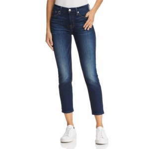 7 For All Mankind Women's Kimmie Crop Skinny Jeans in Phoenix River - 100% Exclusive Phoenix River Work In Store NICZ440