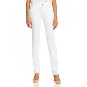 7 For All Mankind Women's Kimmie Straight-Leg Jeans in Slim Illusion Luxe White Slim Illusion Luxe White Good Quality On Line CADJ513
