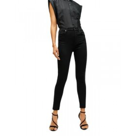 7 For All Mankind Young Women's High Waist Ankle Skinny Jeans in Black Black boutique JVYP916