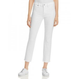 7 For All Mankind Young Women's Roxanne Raw Hem Ankle Jeans in White Fashion White Fashion Design NMLJ251