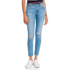 AG Women's Mid-Rise Ankle Skinny Jeans in 16 Years Composure Destructed 16 Years Composure Destructed Designer Sale CNMH812