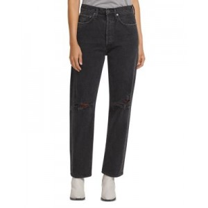 AGOLDE Girl's 90s Wide Leg Jeans in Smokestack Smokestack 40 Year Old Discount DGXC143