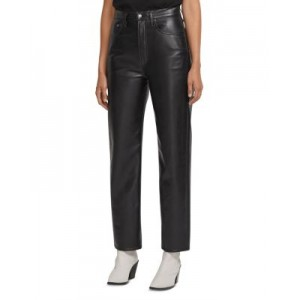 AGOLDE Women's 90s Fitted Recycled Leather Pants Detox high quality PIMT645