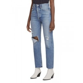AGOLDE Young Women's 90's Pinch Waist High Rise Straight Leg Jeans in Lineup Lineup Size 32 online shopping TLMA349