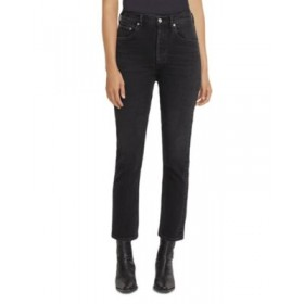 AGOLDE Young Women's Riley High Rise Cropped Straight Leg Jeans in Panoramic Panoramic Fit CIHN827