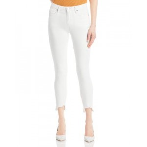 AQUA Women's Distressed Cropped Skinny Jeans in White - 100% Exclusive White 2021 Trends VBQM325