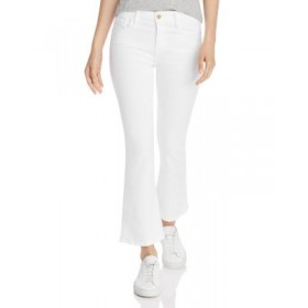 FRAME Women's Le Crop Mini Boot Jeans in Blanc Blanc Size 7 YEVF920
