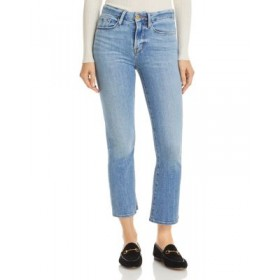 FRAME Womens Le Cropped Mini Bootcut Jeans in Melville Melville Size Is 27 good quality JULN624